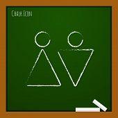 foto of heterosexual couple  - Vector heterosexual couple iflat outline con - JPG