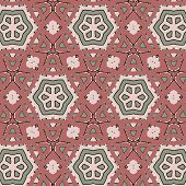 picture of primitive  - Primitive simple retro seamless pattern with stars and circles - JPG