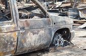 picture of fire insurance  - Burnt out car in fire situation insurance matters - JPG