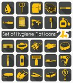 stock photo of personal hygiene  - Set of hygiene flat icons for Web and Mobile Applications - JPG