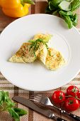 picture of scrambled eggs  - Close - JPG