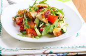 image of rocket salad  - Chicken breast rocket cucumber and tomato salad with citrus dressing - JPG