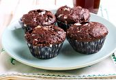 pic of chocolate muffin  - Rocky road muffins - JPG