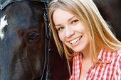image of horse girl  - Nature lover - JPG