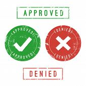 foto of denied  - Approved and denied stamps - JPG