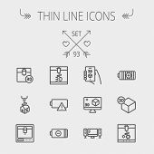 image of tv sets  - Technology thin line icon set for web and mobile - JPG
