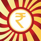 foto of indian currency  - Yellow icon with indian rupee symbol - JPG