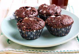 image of chocolate muffin  - Rocky road muffins - JPG