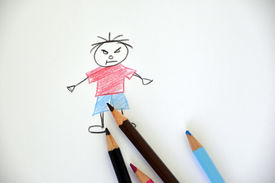 pic of school bullying  - Drawing of a bully - JPG