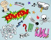 Постер, плакат: Комикс книга элементы один