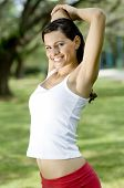 Outdoor Triceps Stretch poster