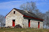 foto of hughes  - The Hugh Rogan stone house built in 1798 located in Sumner County Tennessee - JPG