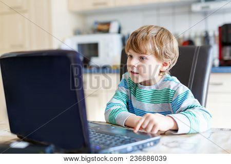 Little School Kid Boy Playing