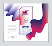 Vector Of Modern Abstract Shape, 3d Shape Gradient. 3d Flower Shape, Vector Abstract Art. Perfect Fo poster