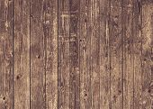 Natural Brown Barn Wood Wall. Wall Texture Background Pattern. Wood Planks, Boards Are Old With A Be poster