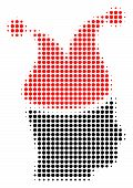 Joker Halftone Vector Pictogram. Illustration Style Is Dotted Iconic Joker Icon Symbol On A White Ba poster