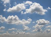 Blue Sky And Clouds Sky, Blue Sky Background, Sky Panorama, Blue Sky And White Cloud poster