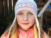 Portrait Of A Girl In A Winter Hat poster
