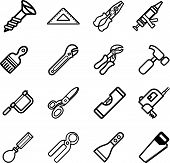stock photo of paint brush  - A vector series set of tool icons - JPG