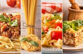 Collage With Different Pasta.collage With Different Pasta. poster