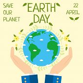 Earth Day, 22 April, Save Our Planet. Earth Day Celebration. poster