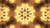 Kaleidoscopes Background With Animated Glowing Neon Colorful Lines And Geometric Shapes. Psychedelic poster