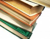 foto of annal  - pile of old books isolated on white background - JPG