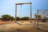 Historic Elephant Slaughter Abattoir At The Olifantsrus Rest Campsite Located In Etosha National Par poster