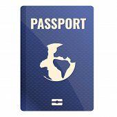 International Passport Icon. Cartoon Of International Passport Vector Icon For Web Design Isolated O poster