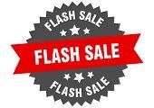 Flash Sale Sign. Flash Sale Red-black Circular Band Label poster