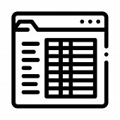 Student Statistics Folder Icon Vector. Outline Student Statistics Folder Sign. Isolated Contour Symb poster