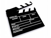 pic of clapper board  - 3D Image of a film clapper board - JPG