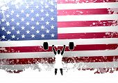 picture of weight lifter  - Abstract grunge weight lifter background with space - JPG
