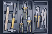 Garage Tool Box, Set Of Tools, Tool Box For Construction, Electronic, Building poster