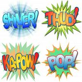 picture of shivering  - A Selection of Comic Book Exclamations and Action Words - JPG