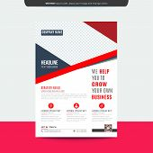 Creative Corporate Red Flyer Template Layout Design. Corporate Business Flyer, Brochure, Annual Repo poster