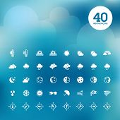 picture of uv-light  - Set of vector icons for weather forecast - JPG
