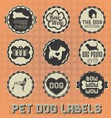 Pet Dog Labels and Icons
