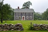 foto of martha  - New England mansion on a foggy afternoon at Martha - JPG