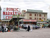 pic of october  - SEATTLE - OCTOBER 7: Public Market in Seattle on October 7 2011. 