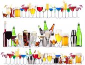 picture of champagne color  - Set of different alcoholic drinks and cocktails  - JPG