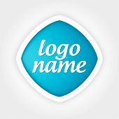 foto of universal sign  - universal vector logo blue to white curly frames - JPG