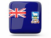 foto of falklands  - Glossy square icon of flag of falkland islands - JPG