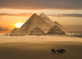 stock photo of life after death  - One of the world wonders old egyptians and pharos had built up this beautiful architectures they belived that there is life after death would become back to life in the future - JPG