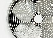 picture of air compressor  - close up old white fan of air compressor - JPG