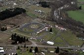 picture of interrupter  - The pastoral scene of Washington state is interrupted by a car racing track - JPG
