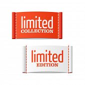 stock photo of status  - Limited collection and edition clothing labels - JPG