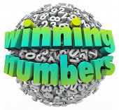 Winning Numbers Lottery Jackpot Lucky Number