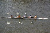 foto of foursome  - four women rowing on the river - JPG