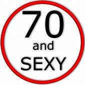 Funny concept of road or traffic sign with age value